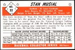 1953 Bowman Reprints #32   Stan Musial Back Thumbnail