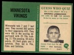 1966 Philadelphia #105   Vikings Team Back Thumbnail