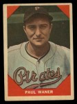 1960 Fleer #76  Paul Waner  Front Thumbnail