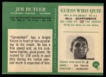 1966 Philadelphia #147  Jim Butler  Back Thumbnail