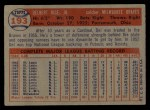 1957 Topps #193  Del Rice  Back Thumbnail