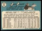 1965 Topps #93  Jack Fisher  Back Thumbnail