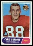 1968 Topps #43  Chris Burford  Front Thumbnail