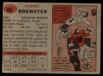 1957 Topps #40  Pete Brewster  Back Thumbnail