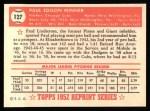 1952 Topps Reprints #127  Paul Minner  Back Thumbnail