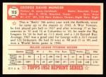 1952 Topps Reprints #115  George Munger  Back Thumbnail
