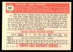 1952 Topps Reprints #361  William Posedel  Back Thumbnail