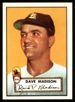1952 Topps Reprints #366  Dave Madison  Front Thumbnail