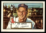 1952 Topps Reprints #335   Ted Lepcio Front Thumbnail