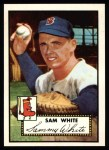 1952 Topps Reprints #345   Sammy White Front Thumbnail