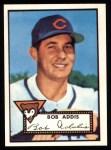 1952 Topps Reprints #259   Bob Addis Front Thumbnail