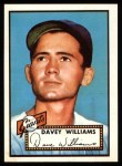 1952 Topps Reprints #316  Dave Williams  Front Thumbnail