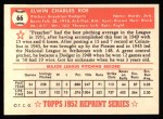1952 Topps Reprints #66  Preacher Roe  Back Thumbnail