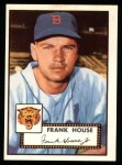 1952 Topps Reprints #146  Frank House  Front Thumbnail