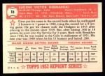 1952 Topps Reprints #16   Gene Hermanski Back Thumbnail