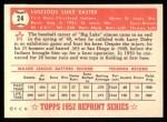 1952 Topps Reprints #24  Luke Easter  Back Thumbnail
