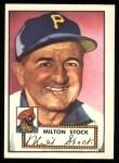 1952 Topps Reprints #381  Milton Stock  Front Thumbnail