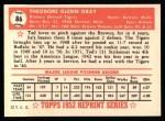 1952 Topps Reprints #86  Ted Gray  Back Thumbnail