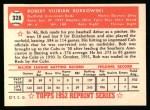1952 Topps Reprints #328   Bob Borkowski Back Thumbnail