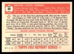 1952 Topps Reprints #30  Mel Parnell  Back Thumbnail