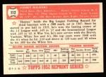 1952 Topps Reprints #112  Hank Majeski  Back Thumbnail