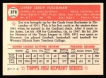 1952 Topps Reprints #378   Leroy Fusselman Back Thumbnail