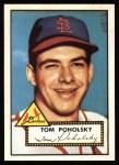 1952 Topps Reprints #242  Tom Poholsky  Front Thumbnail