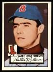 1952 Topps Reprints #186   Walt Masterson Front Thumbnail