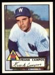 1952 Topps Reprints #307  Frank Campos  Front Thumbnail