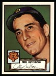 1952 Topps Reprints #126  Fred Hutchinson  Front Thumbnail