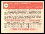 1952 Topps Reprints #295  Phil Cavarretta  Back Thumbnail