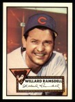 1952 Topps Reprints #114  Willard Ramsdell  Front Thumbnail