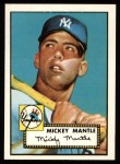 1952 Topps Reprints #311  Mickey Mantle  Front Thumbnail