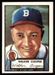 1952 Topps Reprints #294  Walker Cooper  Front Thumbnail