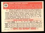 1952 Topps Reprints #340   Bob Hooper Back Thumbnail