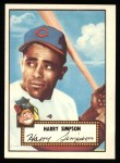1952 Topps Reprints #193  Harry Simpson  Front Thumbnail