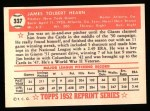 1952 Topps Reprints #337  Jim Hearn  Back Thumbnail