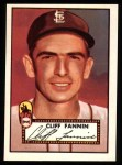 1952 Topps Reprints #285  Cliff Fannin  Front Thumbnail