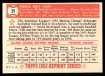 1952 Topps Reprints #21  Ferris Fain  Back Thumbnail