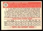 1952 Topps Reprints #266   Murry Dickson Back Thumbnail