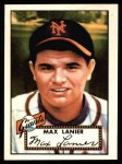 1952 Topps Reprints #101  Max Lanier  Front Thumbnail