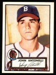 1952 Topps Reprints #140  Johnny Antonelli  Front Thumbnail