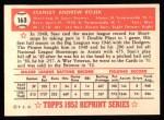 1952 Topps Reprints #163  Stan Rojek  Back Thumbnail