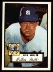 1952 Topps Reprints #403  Bill Miller  Front Thumbnail