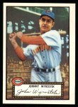 1952 Topps Reprints #13  Johnny Wyrostek  Front Thumbnail