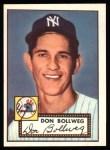 1952 Topps Reprints #128   Don Bollweg Front Thumbnail