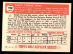 1952 Topps Reprints #200  Ralph Houk  Back Thumbnail