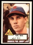 1952 Topps Reprints #398  Hal Rice  Front Thumbnail