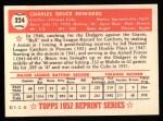 1952 Topps Reprints #224   Bruce Edwards Back Thumbnail