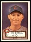 1952 Topps Reprints #391   Ben Chapman Front Thumbnail